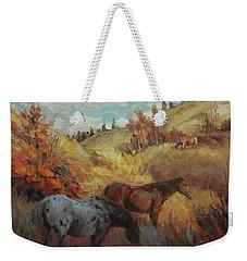 Autumn Browsing Weekender Tote Bag
