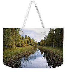 Autumn By The Riverside Weekender Tote Bag