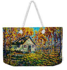 Autumn Cabin Trip Weekender Tote Bag