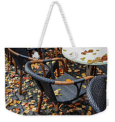 Weekender Tote Bag featuring the photograph Autumn Cafe by Elena Elisseeva