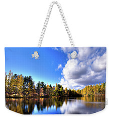 Weekender Tote Bag featuring the photograph Autumn Calm At Woodcraft Camp by David Patterson