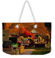 Autumn Cemetery Weekender Tote Bag