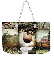 Weekender Tote Bag featuring the photograph Autumn Collage - Autumn In New England by Joann Vitali