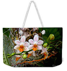 Autumn Colored Orchids Weekender Tote Bag by Sue Melvin