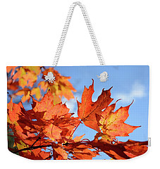 Weekender Tote Bag featuring the photograph Autumn Colors 2 by Angie Tirado
