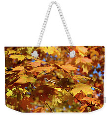 Weekender Tote Bag featuring the photograph Autumn Colors 3  by Angie Tirado