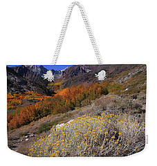 Autumn Colors At Mcgee Creek Canyon In The Eastern Sierras Weekender Tote Bag