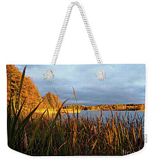 Autumn Colors At The Lake Enajarvi Weekender Tote Bag
