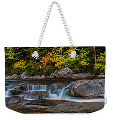 Weekender Tote Bag featuring the photograph Autumn Colors In White Mountains New Hampshire by Ranjay Mitra