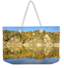 Autumn Colors On The North Saskatchewan River Weekender Tote Bag