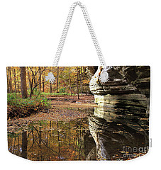 Autumn Comes To Illinois Canyon  Weekender Tote Bag