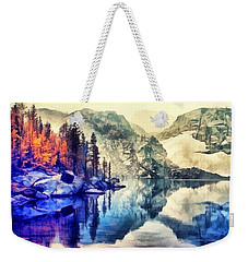 Autumn Day On The Lake. Weekender Tote Bag