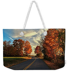 Weekender Tote Bag featuring the photograph Autumn Drive by Kendall McKernon