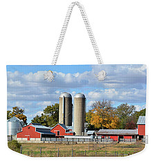Autumn Elk Farm Weekender Tote Bag