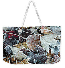 Weekender Tote Bag featuring the photograph Autumn Ends, Winter Begins 1 by Linda Lees