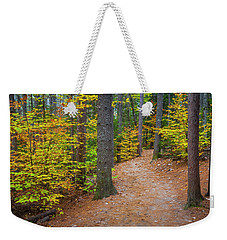 Weekender Tote Bag featuring the photograph Autumn Fall Foliage In New England by Ranjay Mitra