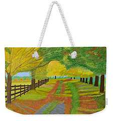 Autumn- Fallen Leaves Weekender Tote Bag