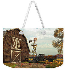 Autumn Farm Scene Weekender Tote Bag