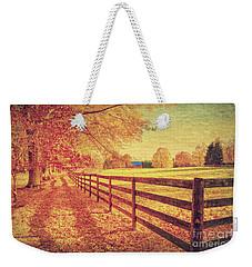 Autumn Fences Weekender Tote Bag