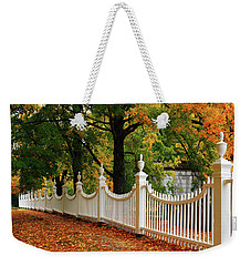 Autumn Fencing Weekender Tote Bag
