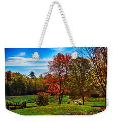Autumn Field Weekender Tote Bag by Tricia Marchlik