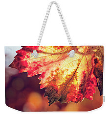 Weekender Tote Bag featuring the photograph Autumn Fire by Melanie Alexandra Price