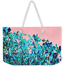 Weekender Tote Bag featuring the photograph Autumn Flames - Peach by Rebecca Harman