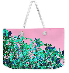 Weekender Tote Bag featuring the photograph Autumn Flames - Pink by Rebecca Harman