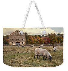 Weekender Tote Bag featuring the photograph Autumn Fleece by Robin-lee Vieira