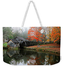 Autumn Foggy Morning At Mabry Mill Virginia  Weekender Tote Bag