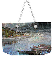 Autumn Fogs In Kin Weekender Tote Bag