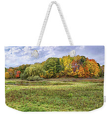 Weekender Tote Bag featuring the photograph Autumn Foliage by Kathi Mirto