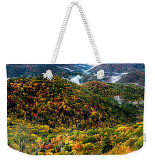 Autumn Foliage On Blue Ridge Parkway Near Maggie Valley North Ca Weekender Tote Bag