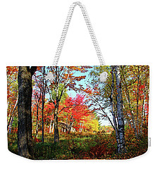 Weekender Tote Bag featuring the photograph Autumn Forest by Debbie Oppermann