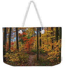 Autumn Forest Hike Weekender Tote Bag