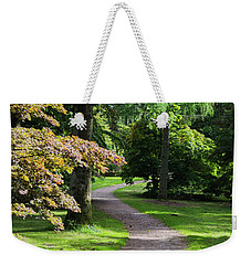 Autumn Forest Path Weekender Tote Bag