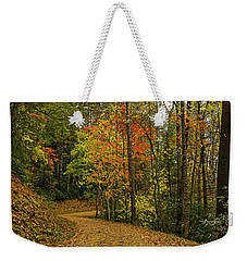 Autumn Forest Road. Weekender Tote Bag by Ulrich Burkhalter