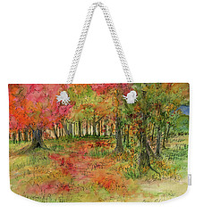 Autumn Forest Watercolor Illustration Weekender Tote Bag