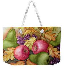 Autumn Fruit Still Life Weekender Tote Bag