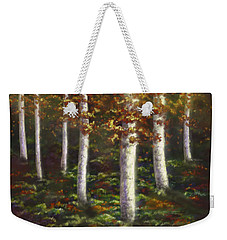 Weekender Tote Bag featuring the digital art Autumn Ghosts by Amyla Silverflame