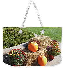 Weekender Tote Bag featuring the photograph Autumn Gifts Harvest Time  by Irina Sztukowski