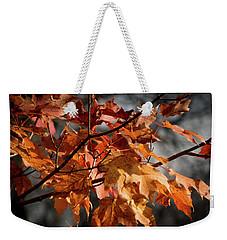 Autumn Gray Weekender Tote Bag by Kimberly Mackowski