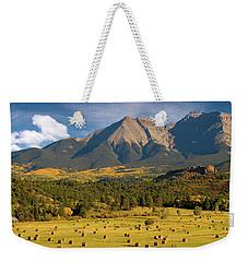 Autumn Hay In The Rockies Weekender Tote Bag by Steve Stuller