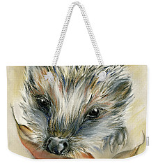 Autumn Hedgehog Weekender Tote Bag