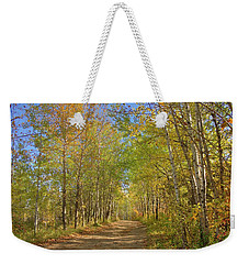 Autumn Hike Weekender Tote Bag