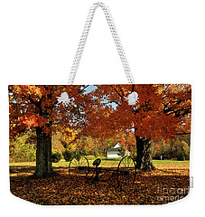 Weekender Tote Bag featuring the photograph Autumn Hush by Diane E Berry