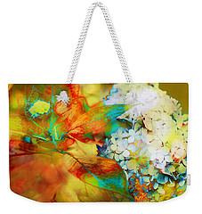 Autumn Hydrangea In Gold Weekender Tote Bag