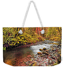 Autumn In An Oregon Rain Forest  Weekender Tote Bag