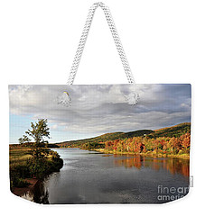 Weekender Tote Bag featuring the photograph Autumn In Margaree Valley Cape Breton by Elaine Manley