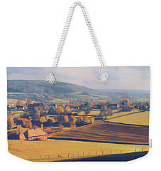 Weekender Tote Bag featuring the painting Autumn In Mechelen by Nop Briex